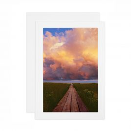 Boardwalk Toward the Clouds – Card
