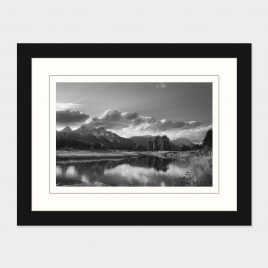 Grand Tetons at Sunset B&W– Print