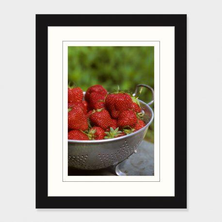 Strawberries-Framed