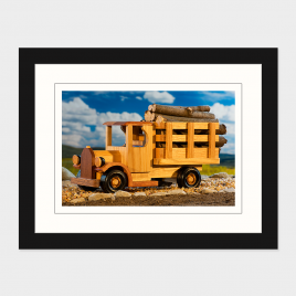 Classic Wooden Toy Truck  – Print