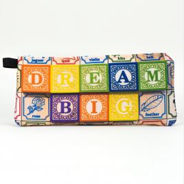 Zippered Pencil Case: Dream Big