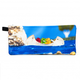 Zippered Pencil Case:  Gummy Bears in a Canoe