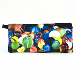 Zippered Bag: Spilled Marbles