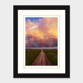 Boardwalk Toward the Clouds – Print