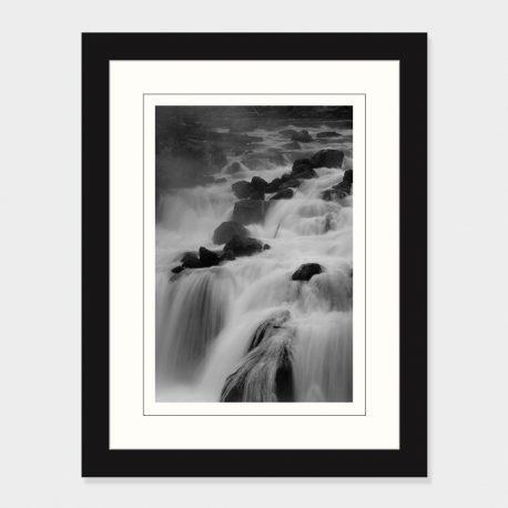 Firehole-Falls-BW-Framed