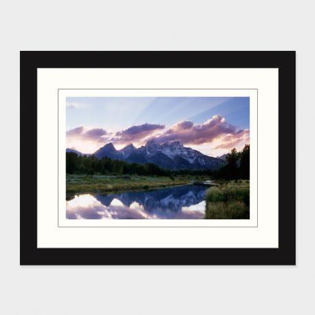 Grand-Tetons-at-Sunset-Framed