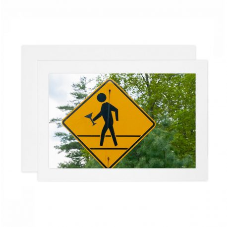 Caution Party – Street-Sign – Card